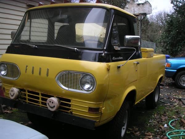 1961 ford econoline pickup truck for sale portland oregon. Black Bedroom Furniture Sets. Home Design Ideas