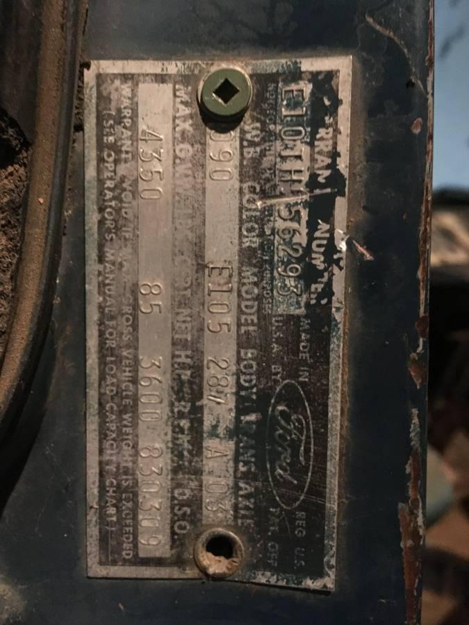 1964 Ford Econoline Pickup Truck Sealed Bid in Arbuckle ...