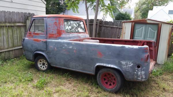 ford econoline pickup truck 1961 1967 for sale in kansas. Black Bedroom Furniture Sets. Home Design Ideas
