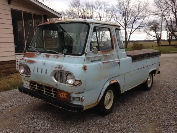 Craigslist Mt Vernon Il >> 1962 Ford Econoline Pickup Truck For Sale Mount Vernon Illinois