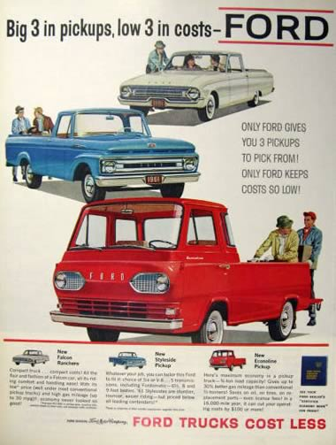 Ford Econoline Pickup Features Amp Specifications Vintage