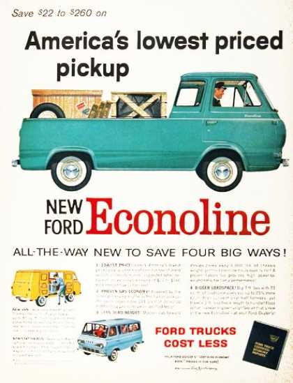 Ford Econoline Pickup Features & Specifications - Vintage