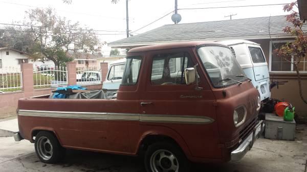 1965 Ford Econoline Pickup Truck For Sale Norwalk, California